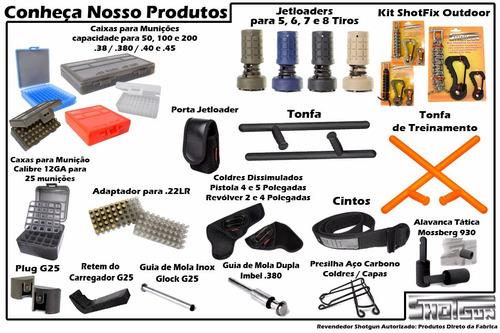 kit shampoo, óleo e solvente - limpeza de armas - shotgun