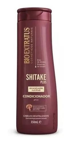 kit shitake reconstrução  cabelos desvitalizados  4 produtos  bio extratus