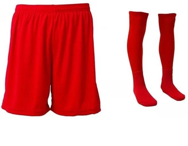 107c058532 Kit Short Calção Futebol + Meião - Diversas Cores - R  26