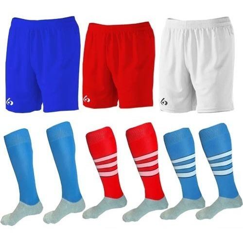 kit short deportivos+medias stripes gol de oro pro elite