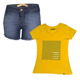 a6a70e3e9c Blusa Caedu - Shorts no Mercado Livre Brasil