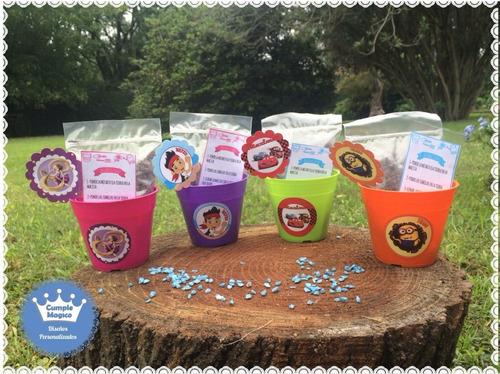 kit siembra n8 maceta tierra semillas souvenir personalizado