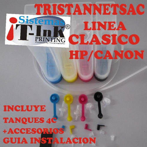 kit sistema continuo ciss dlux hp/canon