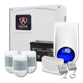 Kit Sistema De Alarma Domiciliaria Cableada Con Controles Pucara Para Casa Departamento Vivienda Negocio Hogar Cordoba