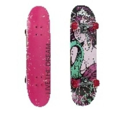 Kit Skate Feminino + Kit Proteção Acessórios C  Capacete Top - R ... 67bf60e4196