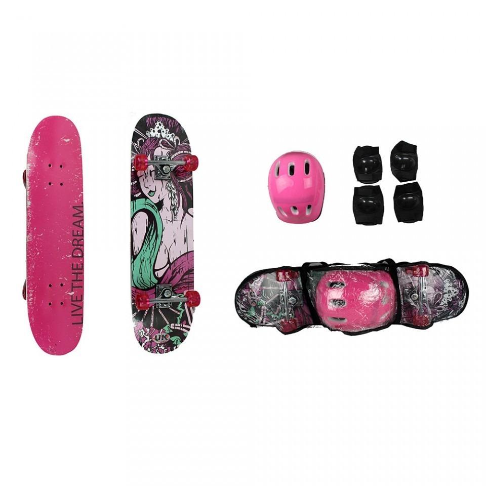 kit skate feminino + kit proteção acessórios c  capacete top. Carregando  zoom. fe9c35df32d