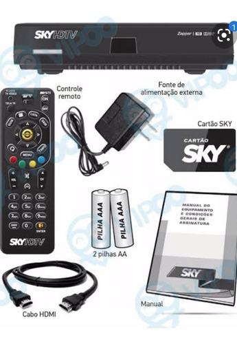 kit sky livre hdtv +antena+lnb+cabo+conector