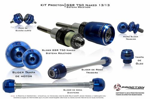 kit slider procton racing roletado suzuki gsx-s 750