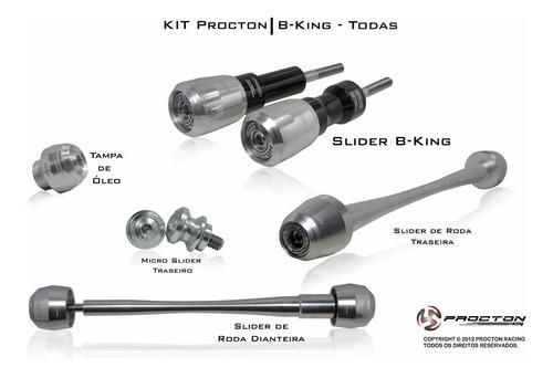 kit slider procton racing suzuki b-king - completo