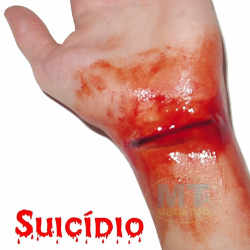 kit slug maquiagem de terror - feridas machucados sangue