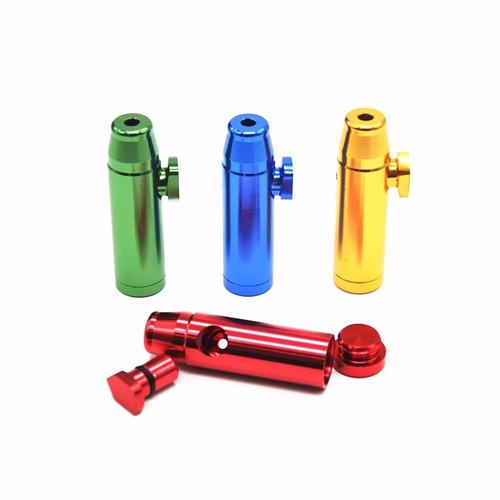 kit snuff dosador bullet de alumínio para rape kit 8 pç