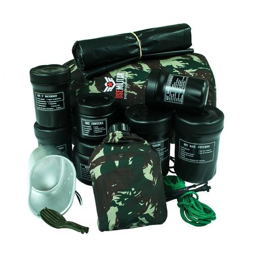 kit sobrevivência use militar + de 100 ítens