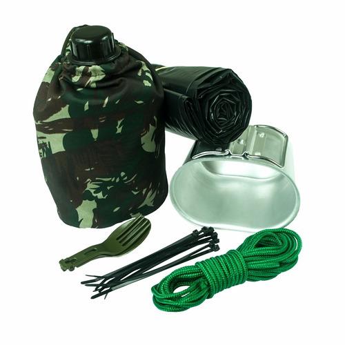 kit sobrevivência use militar + de 100 itens - frete grátis