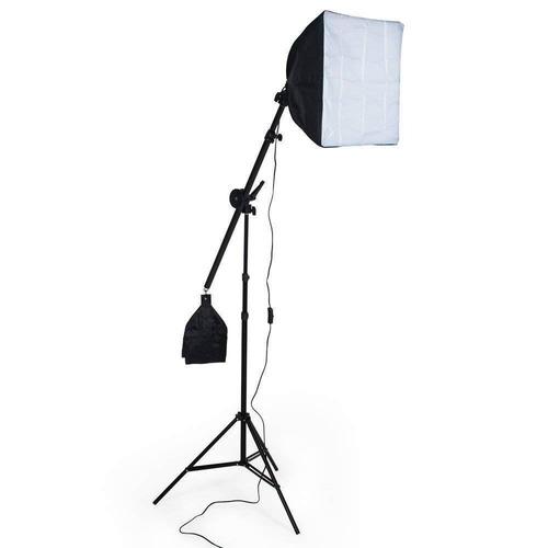 kit soft-box 50x70  bocal c/4 suporte girafa  9 lampada 220v