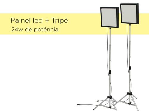kit soft box - luz estúdio - + tripé - oportunidade