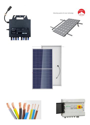 kit solar 4 paneles, micro inversor, estructura,cableado