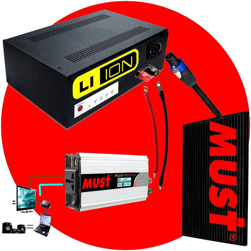 kit solar completo 12 volts 350 watts panel solar 80w k350