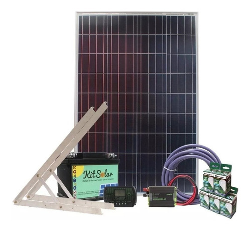 kit solar completo autoinstalable energia panel usb led k1