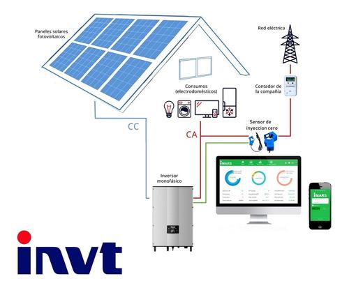 kit solar completo monofasico 5kw/h on-grid 220v invt 5ktl