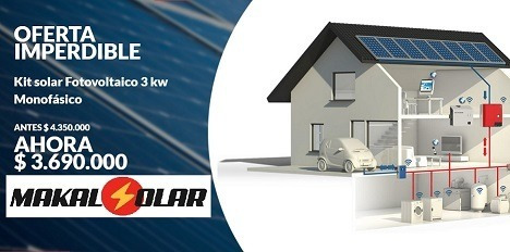 kit solar instalado