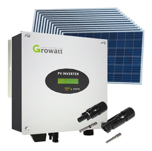 kit solar inversor growatt 3000w + paneles - enertik