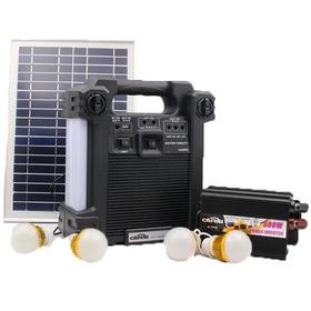Kit Solar Portatil 4 Focos/inversor/radio Fm Am/bluetooth