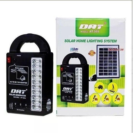 fd8ef5e2f12fa Kit Solar Portátil Panel Lamparas Led Linterna Cargador Usb ...