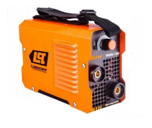 kit soldadora inverter lusqtoff + mascara fotos + electrodos