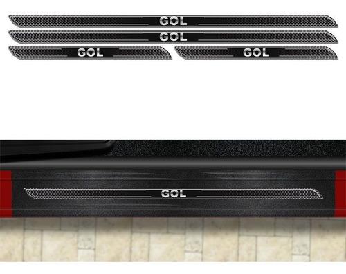kit soleira diamante gol g3 g4 g5 g6 com protetor de porta