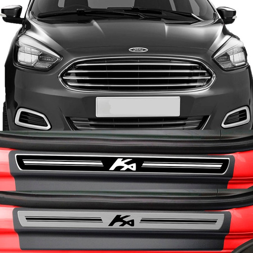 kit soleira premium resinada porta ford ka 2014 /...