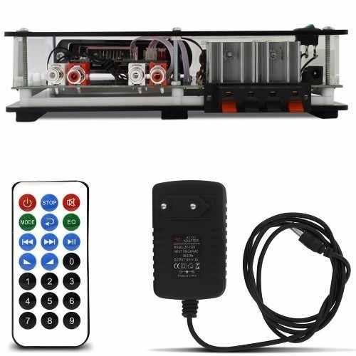 kit som ambiente 8 caixas acusticas gesso + amplificador bt