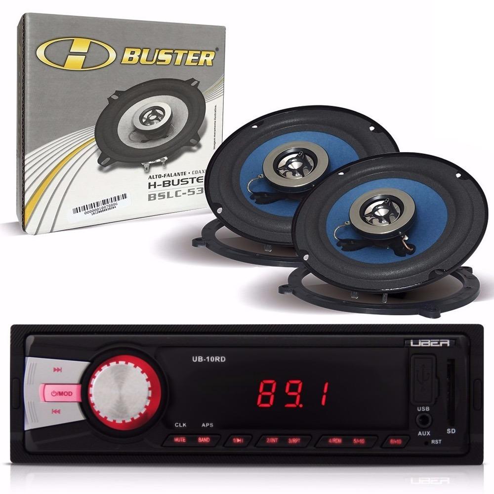 2192603296a kit som automotivo c rádio mp3 usb sd + par de alto falantes. Carregando  zoom.