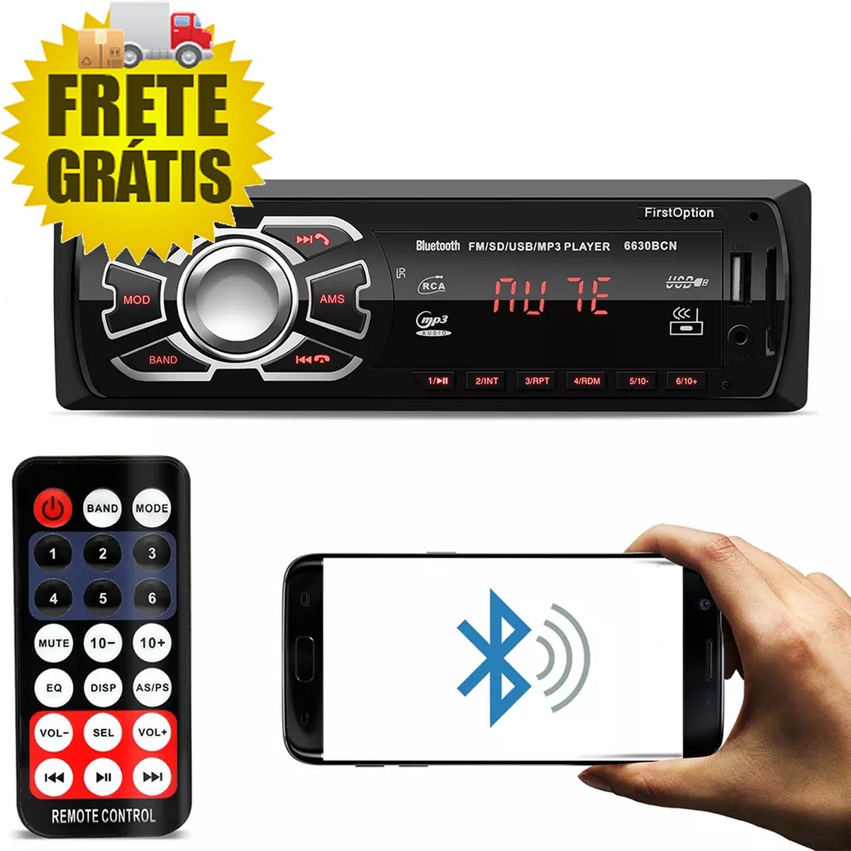 921f181389d kit som automotivo completo osasco sp bluetooth mp3 usb sd. Carregando zoom.