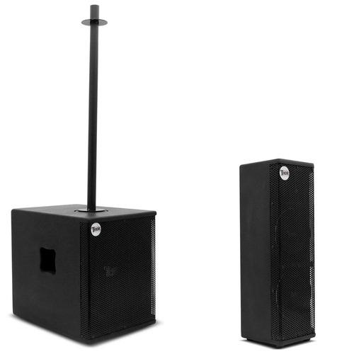 kit som profissional thor line array torre thw-620 passiva