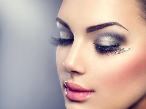 kit sombra sobrancelhas kiss newyork c/ molde maquiagem