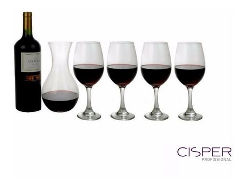 kit sommelier 4 copa vino decanter vidrio dia del maestro
