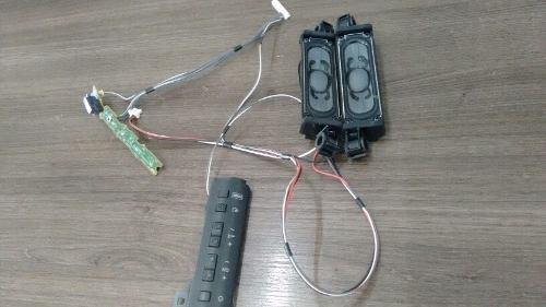 kit sony tv kdl-32ex525, sensor, botoes e auto falantes.