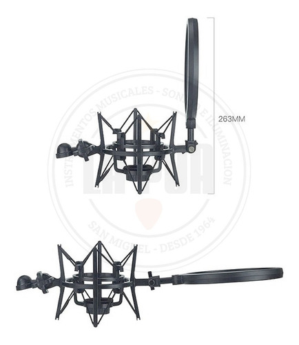 kit soporte araña filtro anti pop hügel bn-29 p/condenser