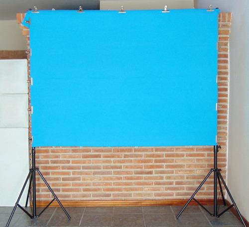 kit soporte portafondo + 2 infinitos tela 1,45x2mt videofoto