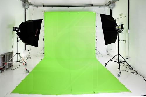 kit soporte portafondo + infinito tela 3x6 fotografia video
