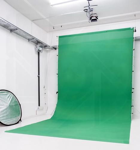 kit soporte portafondo infinito tela 3x6mt video fotografia