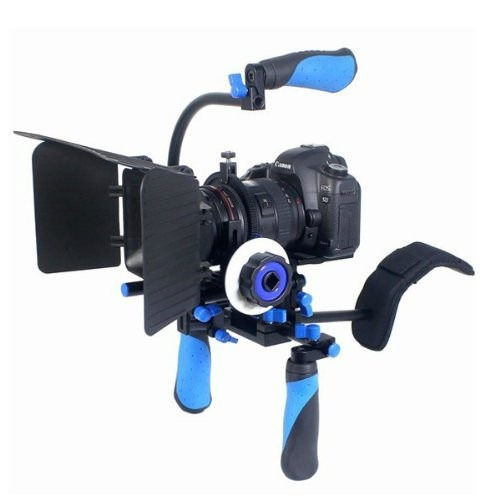 kit soporte rig follow focus manija matte box p/ video dslr