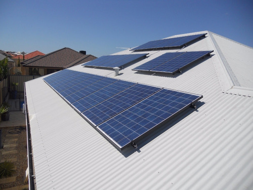 kit soporte techo chapa para 6 paneles solares 120w a 180w