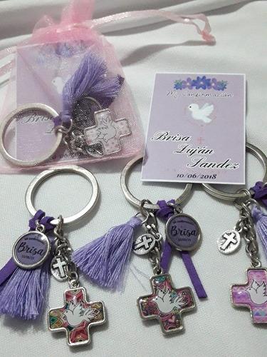 kit souvenir comunión llavero+tarjetita+organza 15u