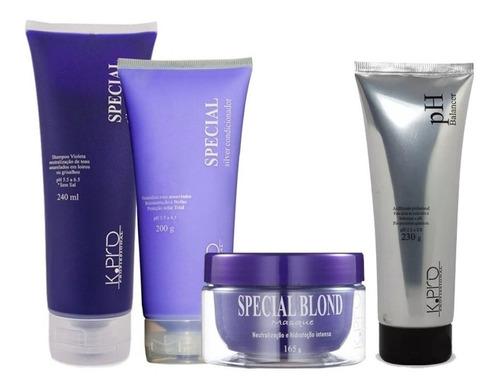kit special silver shampoo+condicionador+máscara + ph kpro