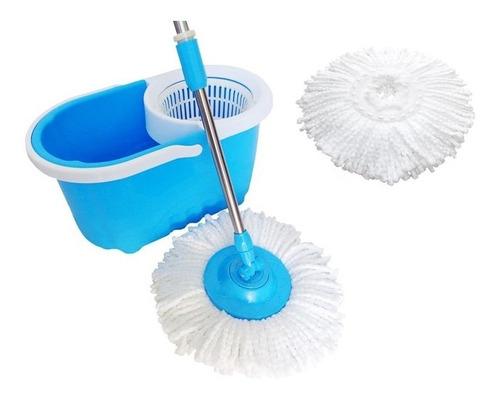kit spin mop de limpeza balde com esfregao vassoura 360 refi