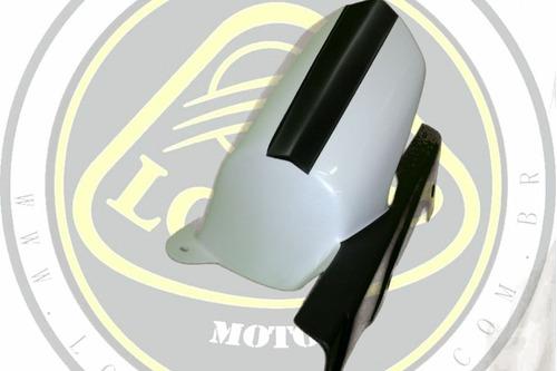 kit spoiler capa pneu e corrente branco fibra dafra next 250 300 022433 com nota