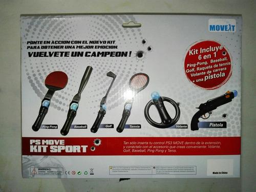 kit sport ps move ps3 y ps4 6 en 1 producto nuevo