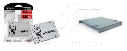 kit ssd kingston 120gb uv400 + suporte desktop + cabo sata