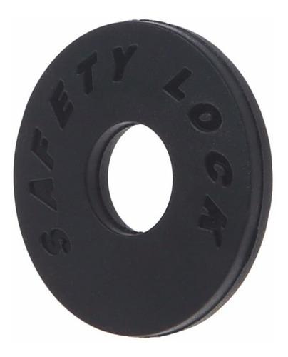 kit strap lock preto correia guitar violão 8pç frete grátis